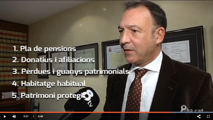 8 TV: TALKS ABOUT What we can do to pay less to the Spanish Tax Agency in